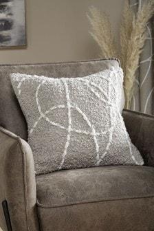 Grey Balance Line Cushion