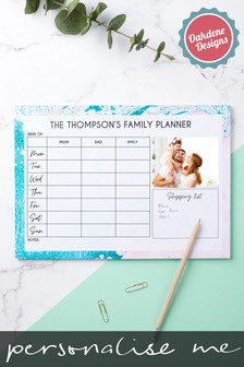 Personalised Family Of 3 Weekly Planner by Oakdene Designs