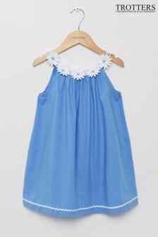 Trotters London Blue Daisy Dress