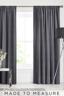 Soho Charcoal Black Made To Measure Curtains
