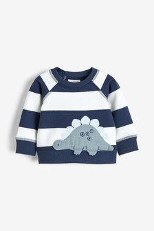 Stripe Dinosaur Appliqué Sweater (0mths-3yrs)