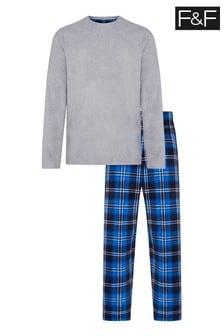 F&F Grey Microfleece Pyjamas