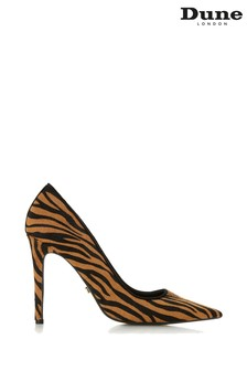 Dune London Tiger Print Leather Amarretti High Heel Courts