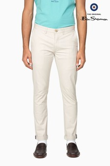 Ben Sherman Main Line Cream Slim Stretch Chinos