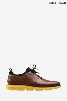 Cole Haan Brown Zerogrand Oxford Lace Shoes