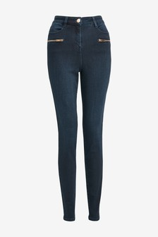 Zipped Skinny Jeans
