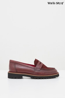 White Stuff Claret Alpine Loafers