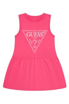Guess Baby Girls Pink Cotton Dress