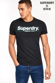 Superdry T-Shirt, schwarz