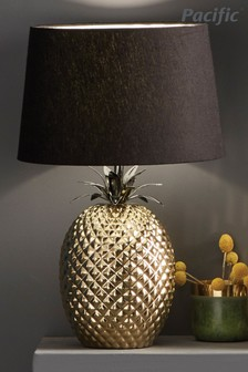 Donatella Gold Ceramic Pineapple Table Lamp by Pacific Lifestyle