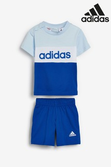 adidas Infant Linear Short And T-Shirt Set
