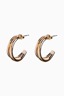 Two Row Hoop Earrings
