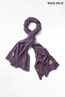 White Stuff Purple Spot Sequin Midweight Scarf