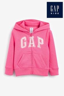 Gap Arch Logo Zip Through Hoodie