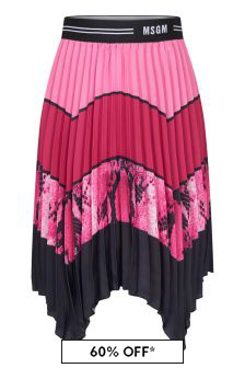 MSGM Girls Pink Skirt