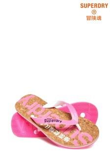 Superdry Glitter Cork Flip Flop