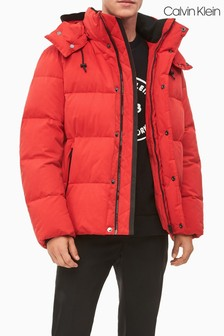 Calvin Klein Red Faux Down Padded Jacket