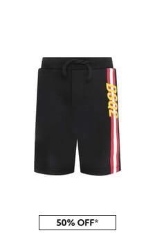 Dsquared2 Kids Boys Black Cotton Shorts