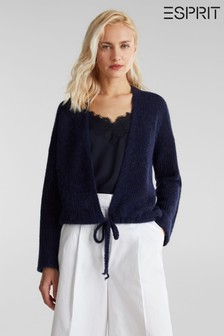 Esprit Blue Long Sleeve Sweater Cardigan