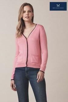 Crew Clothing Pink Pocket Cardigan