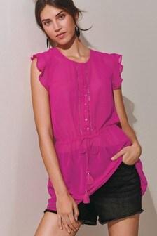 Sleeveless Embellished Tunic