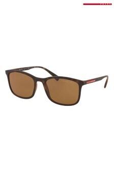 Prada Sport Havana Rubber Sunglasses