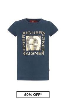 Aigner Navy Cotton T-Shirt