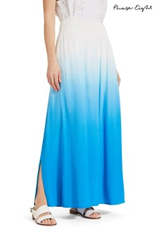 Phase Eight Blue Sam Dip Dye Maxi Skirt