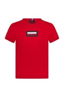 Tommy Hilfiger Red Cotton T-Shirt