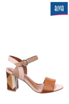 Riva Tan Baxin Multi Leather Ladies Sandals