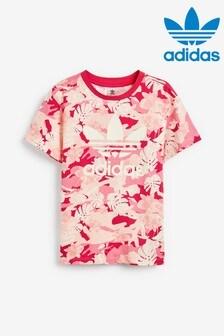 adidas Originals Pink Camo Printed T-Shirt