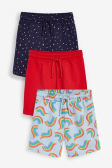 3 Pack Cotton Jersey Shorts (3-16yrs)
