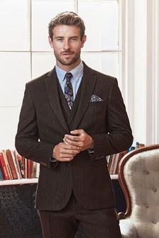 Slim Fit Stripe Suit: Jacket