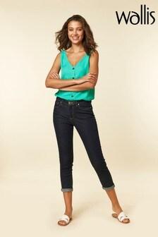 Wallis Indigo Scarlet Roll Up Jeans