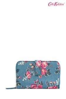 Cath Kidston® Teal Kingswood Rose Folded Zip Wallet