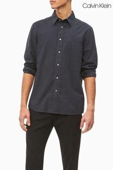 Calvin Klein Grey Mini Gingham Shirt