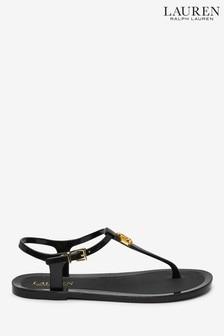 Ralph Lauren Monogram Logo Ashtyn Rubber Sandals