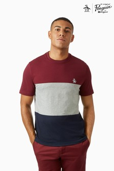 Original Penguin® Colourblock T-Shirt With Chest Placement Pete The Penguin Logo