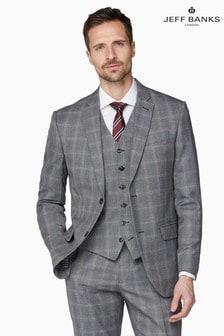 Jeff Banks Grey Soho Regular Fit Waistcoat