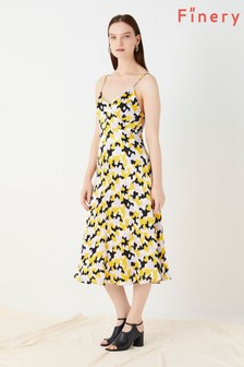 Finery London Yellow Sleeveless Dress