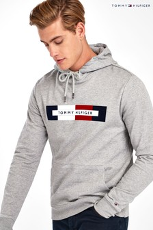 Tommy Hilfiger Grey Box Logo Hoody