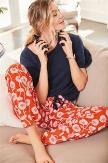 Ruffle Sleeve Floral Pyjamas