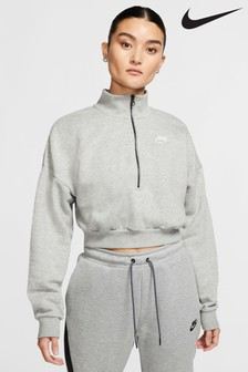 Nike Essential 1/2 Zip Cropped Crew Sweater