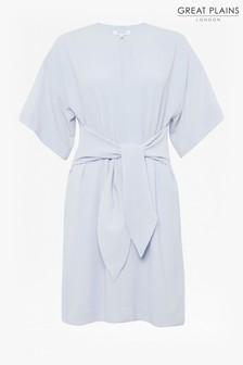 Great Plains Blue Nouvelle Bow Wide Sleeve Dress