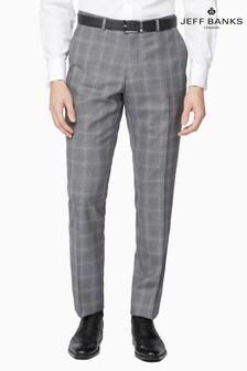 Jeff Banks Grey Soho Plain Front Suit Trousers