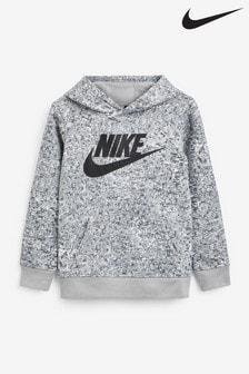 Nike Little Kids Grey Digi Camo Logo Hoodie
