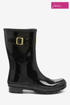 Joules Black Kelly Welly Gloss Mid Height Welly