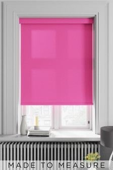 Asher Coral Pink Made To Measure Light Filtering Roller Blind