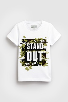 Stand Out Camo Print T-Shirt (3-16yrs)