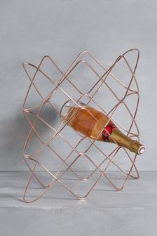 Подставка для винных бутылок цвета розового золота